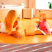 Тепла підлога вванну. Тепла підлога під плитку