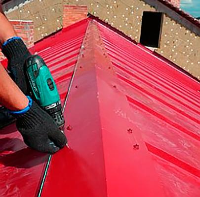Как сделать конек на крышу фото