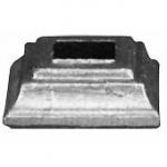 код. 44.129 Основа балясини Розміри: квадрат 16,5х16,5 мм HхL 15х40х40 мм