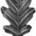код. 50.150 Лист кований Розміри: HхL 175х95 мм Товщина 2